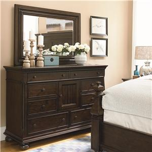 Universal Down Home Dresser and Mirror Combo