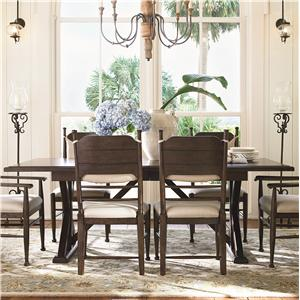 Morris Home Furnishings Pine Bluff Pine Bluff Dining Table Top & Base