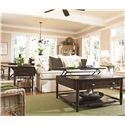 Universal Down Home Visitin' Table with Lift Top - Shown with Lemonade Stand and Drop Leaf End Table with Leaf Extended