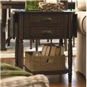 Universal Down Home Drop Leaf End Table with 2 Drawers