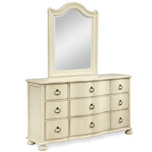 Paula Deen by Universal River House Dresser and Vertical Mirror Set