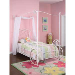 Powell Youth Beds and Bunks Twin Canopy Bed