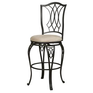 Powell Big and Tall Diamond Top Bar Stool