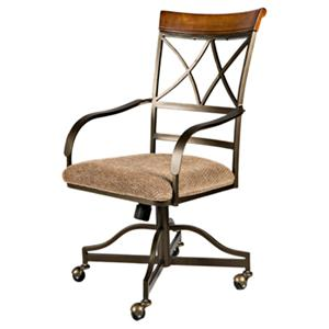 Powell Hamilton Swivel Tilt Dining Chair with Casters