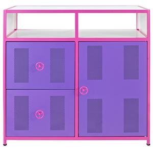 Powell Jeep Pink & Purple Door Dresser with 2 Drawers