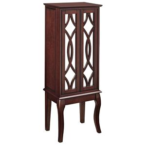 Powell Jewelry Armoire Java and Mirror Jewelry Armoire