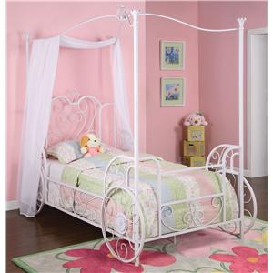 Powell Princess Twin Canopy Bed