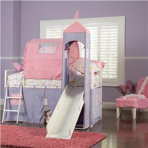 Powell Princess Princess Castle Twin Bunk Bed
