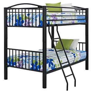 Powell Youth Beds and Bunks Twin Metal Bunk Bed