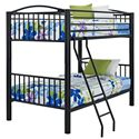 Powell Youth Beds and Bunks Full Metal Bunk Bed - Item Number: 938-137