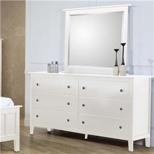 Private Reserve Millie (white) Millie (white) Dresser and Mirror