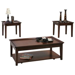 Progressive Furniture Encore 3 Piece Occasional Table Set