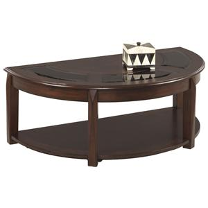 Progressive Furniture Fresh Approach Half-Oval Castered Cocktail Table
