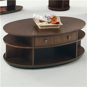 Progressive Furniture Metropolitan  Oval Cocktail Table