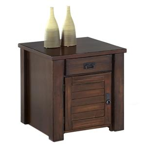 Progressive Furniture Trestlewood Cabinet End Table