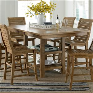 Progressive Furniture Willow Dining Rectangular Counter Height Table
