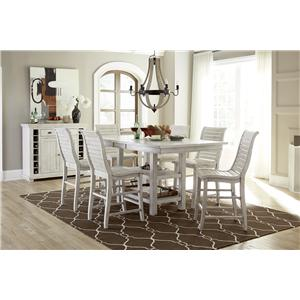 Progressive Furniture Willow Dining Gathering Table with 4 Chairs