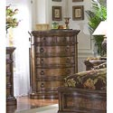 Pulaski Furniture San Mateo Five Drawer Marble Top Chest