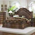 Pulaski Furniture San Mateo California King Microfiber Upholstered Sleigh Bed