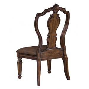 Pulaski Furniture San Mateo Carved Back Side Chair