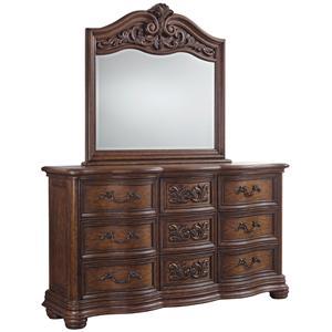 Pulaski Furniture Cheswick Dresser and Mirror Combination
