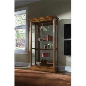 Pulaski Furniture Curios Two Way Sliding Door Curio