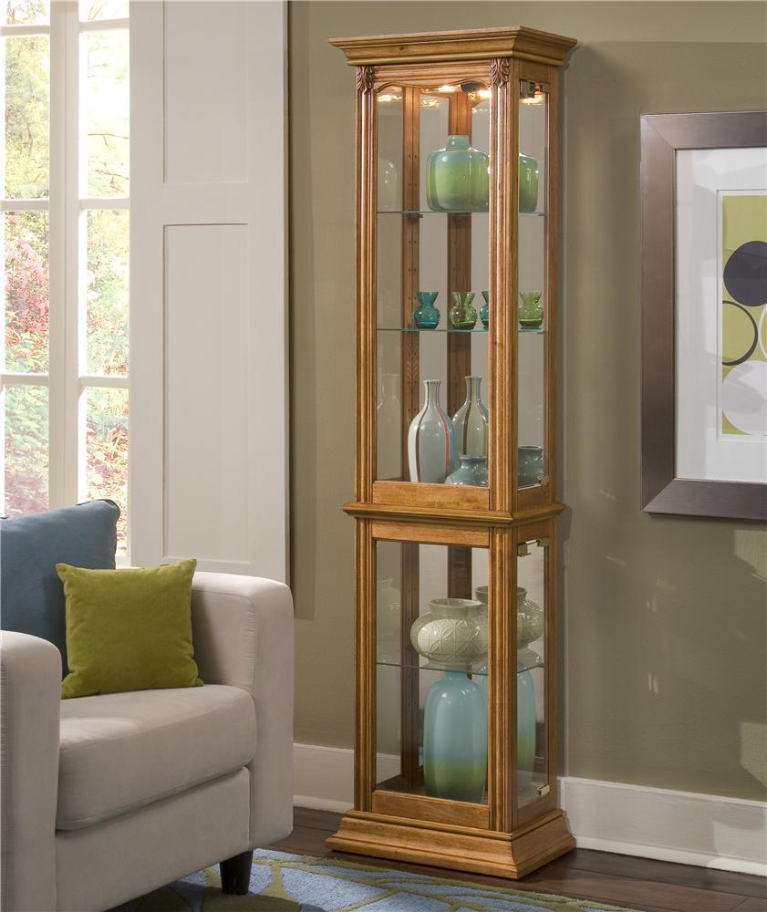 Estate Oak Curio Cabinet