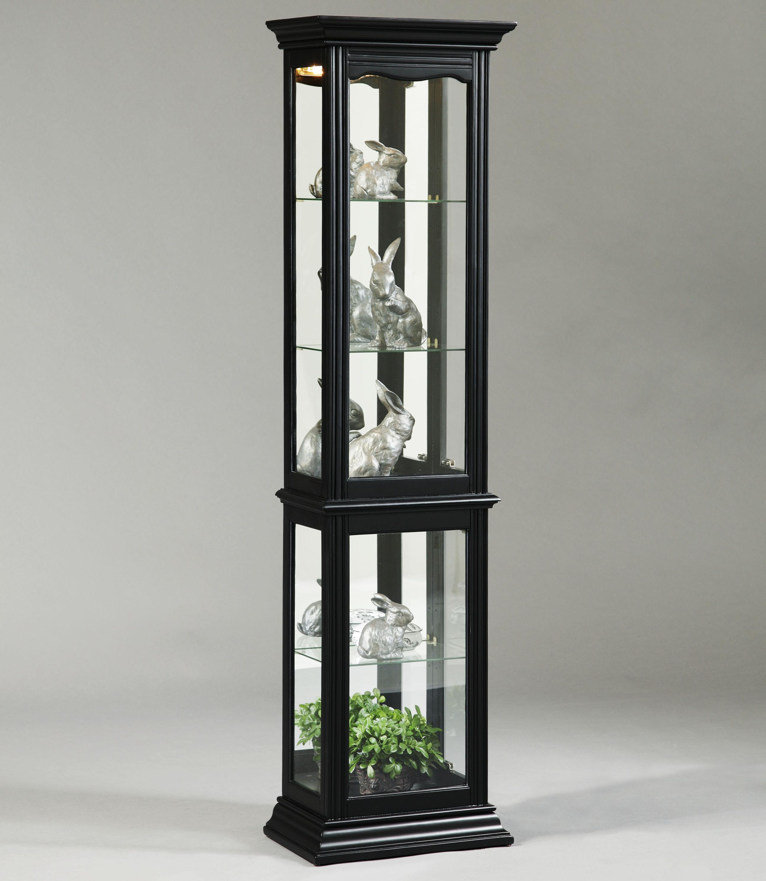By Pulaski Furniture. Oxford Black Curio Cabinet