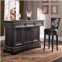 Pulaski Furniture Accents Bar Stool with Upholstered Seat - Shown with Bar