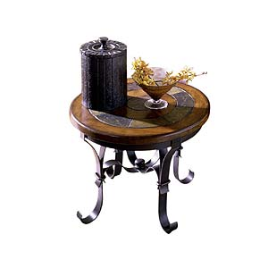 Riverside Furniture Stone Forge Round End Table
