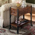 Riverside Furniture Medley Chairside Table with Drawer and Two Shelves