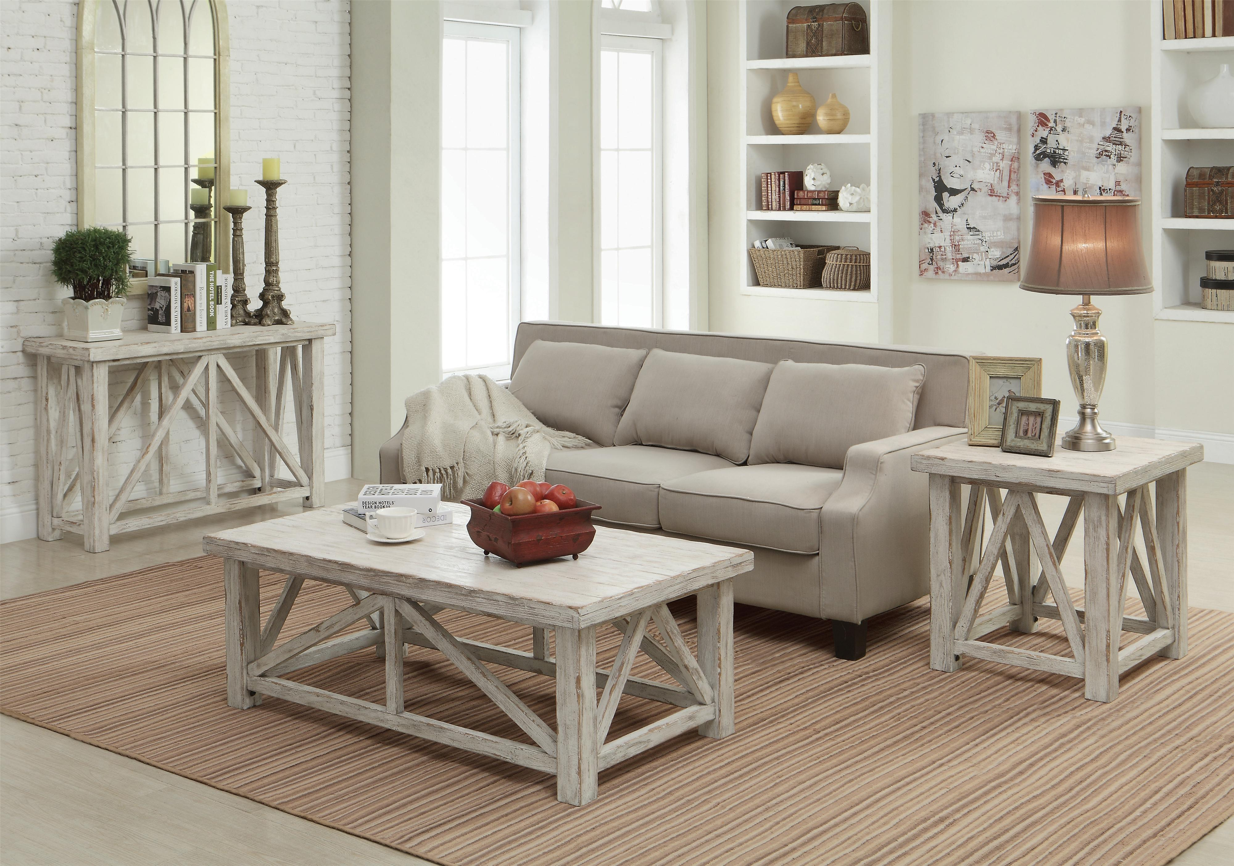 End Table With Light Distressing. By Riverside Furniture