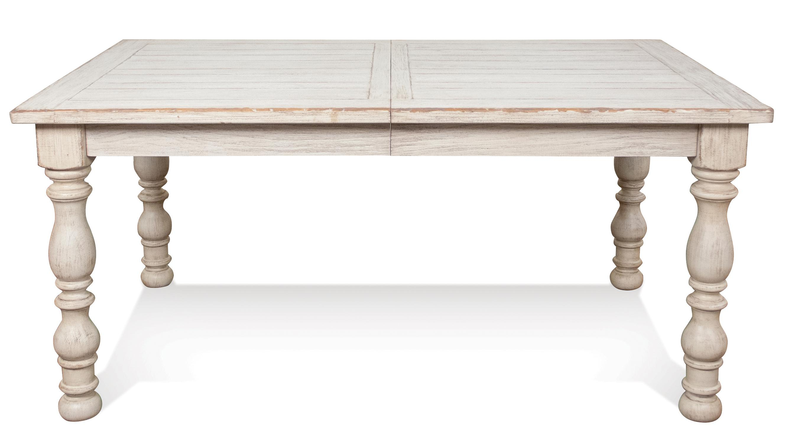 Rectangular farmhouse expandable dining table by riverside for Farmhouse dining table