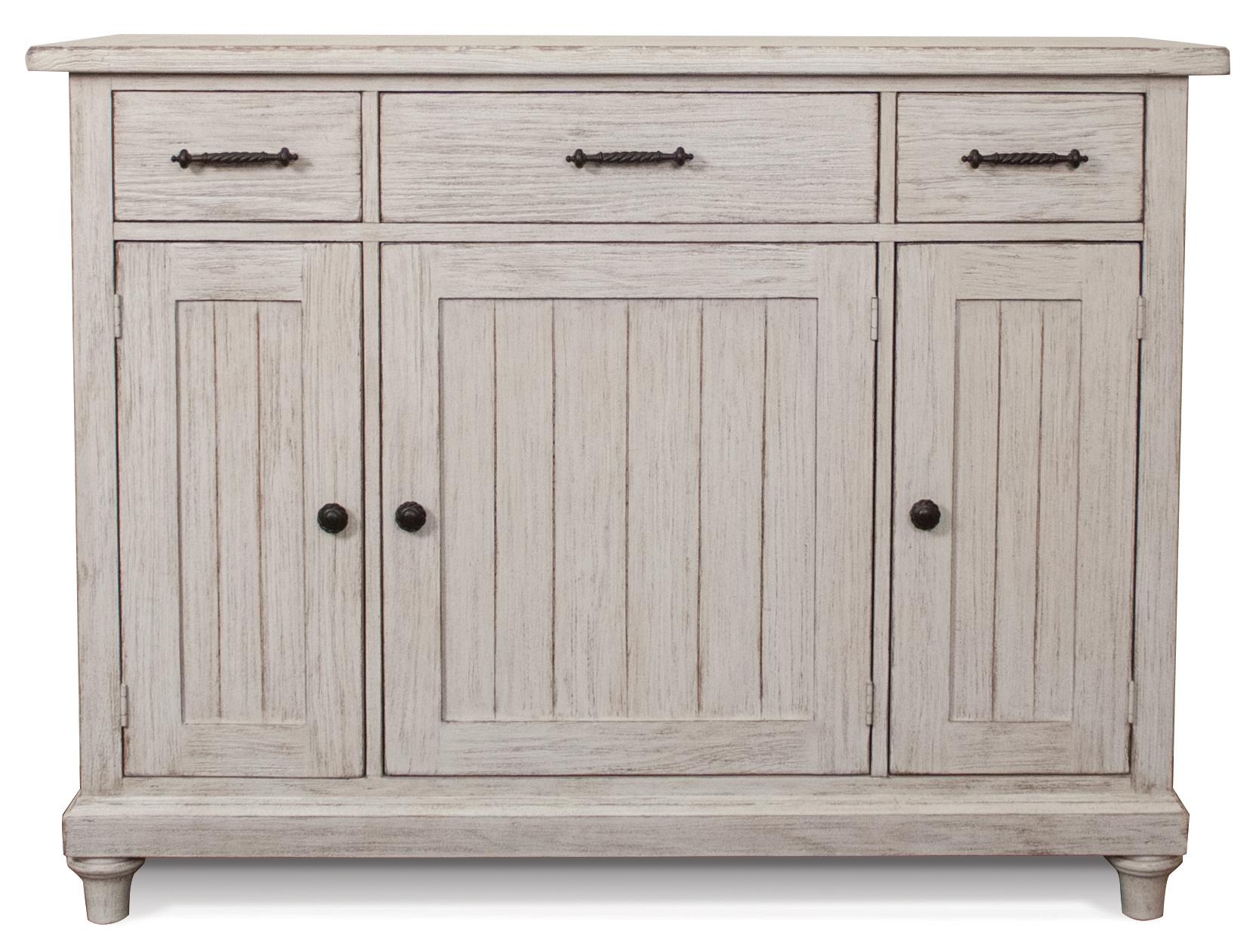 Weathered Server w/ Drawers and Doors
