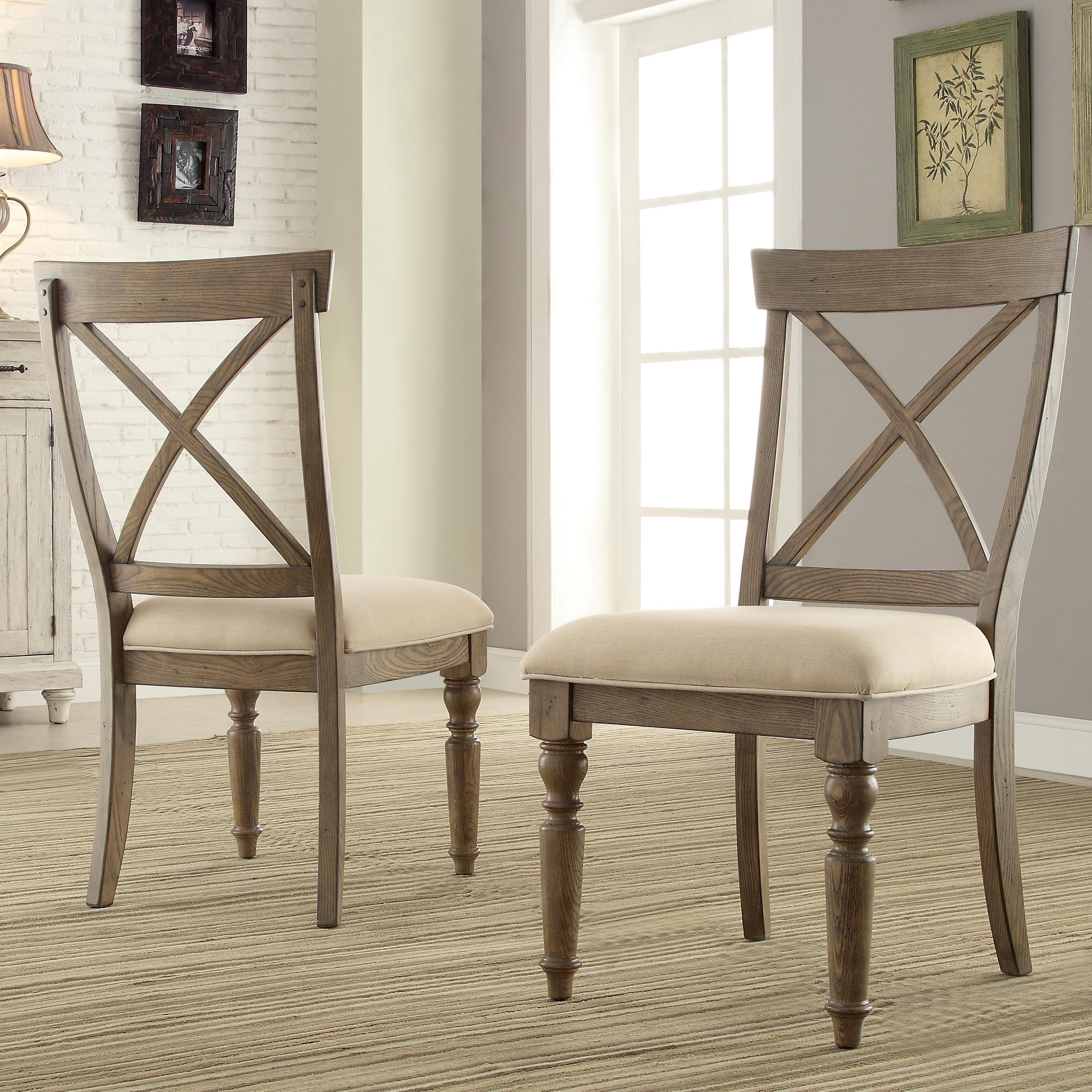 X Back Side Chair w Turned Legs by Riverside Furniture