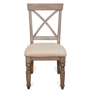 X-Back Side Chair w/ Turned Legs