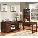 Riverside Furniture Avenue L-Shape Laptop Desk with Credenza - Item Number: 61031+61038+61039