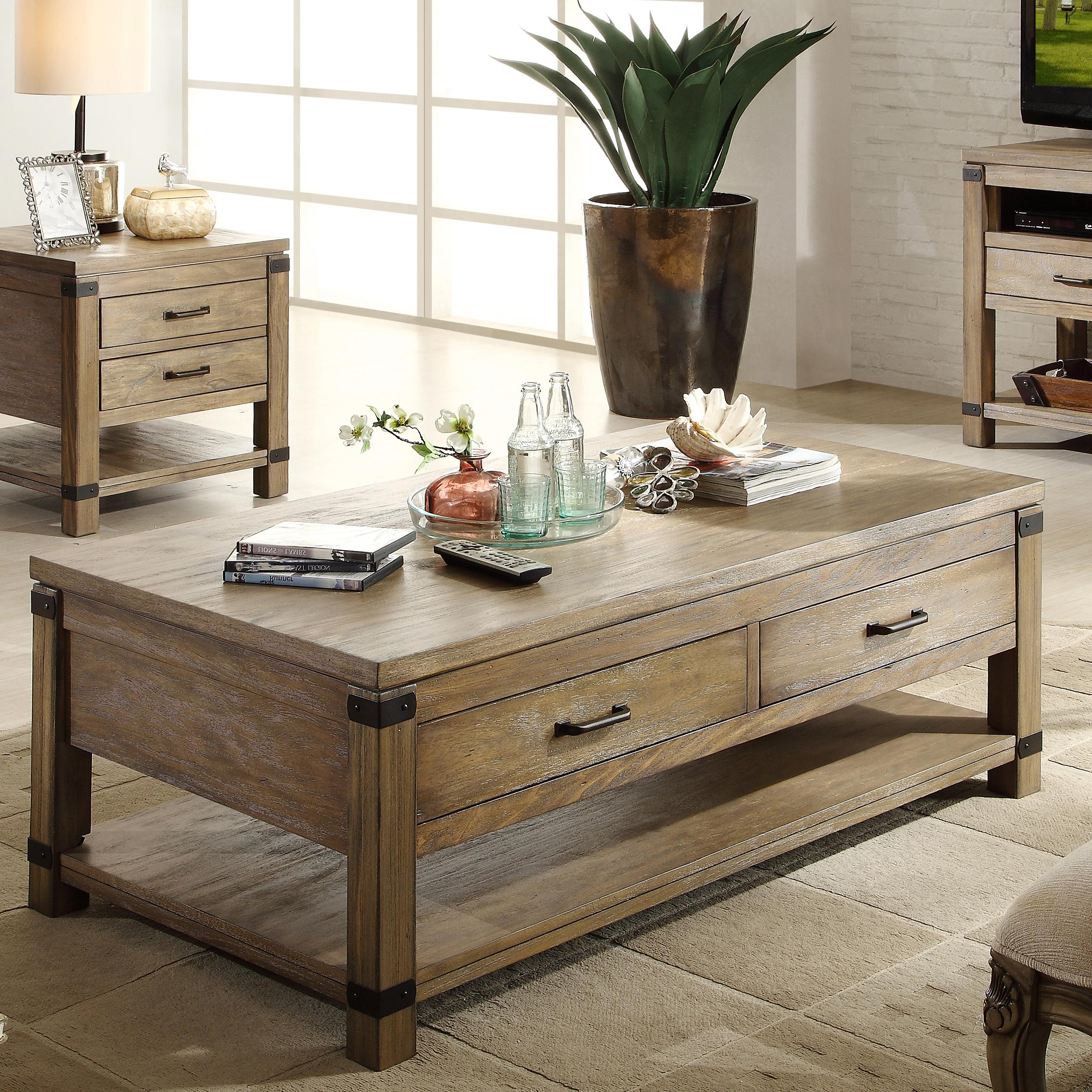Rectangular Cocktail Table With 2 Drawers By Riverside Furniture Wolf And Gardiner Wolf Furniture