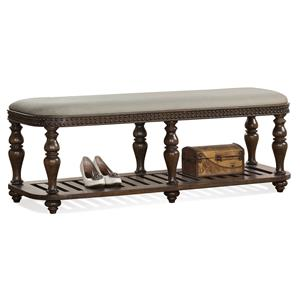 Riverside Furniture Belmeade Upholstered Bed Bench