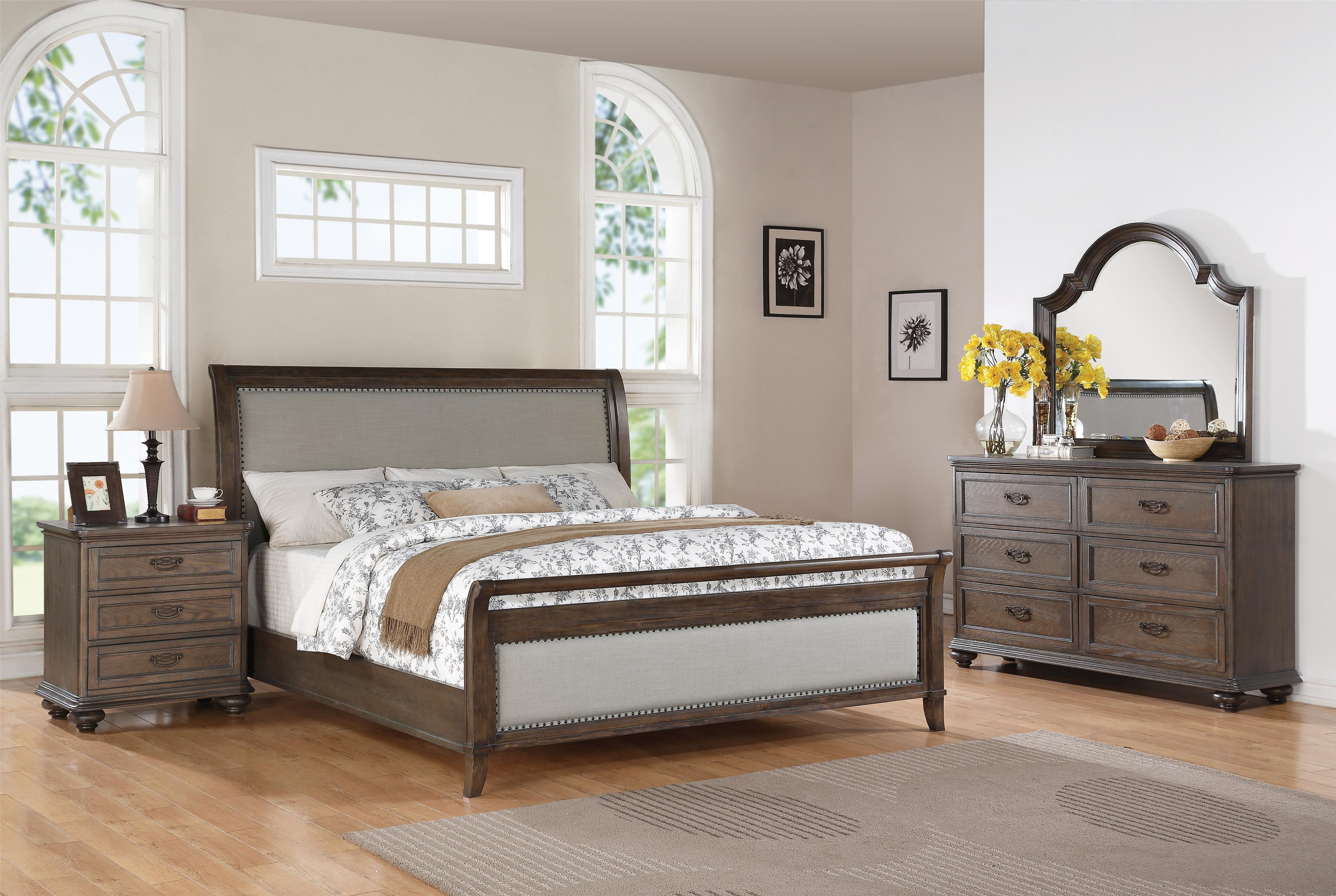 Superieur Queen Sleigh Upholstered Bed