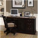 Riverside Furniture Bridgeport  Desk Chair with Upholstered Seat - Shown with Single Pedestal Desk