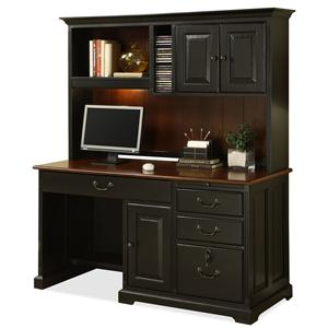 Riverside Furniture Bridgeport  Computer Desk with Storage Hutch