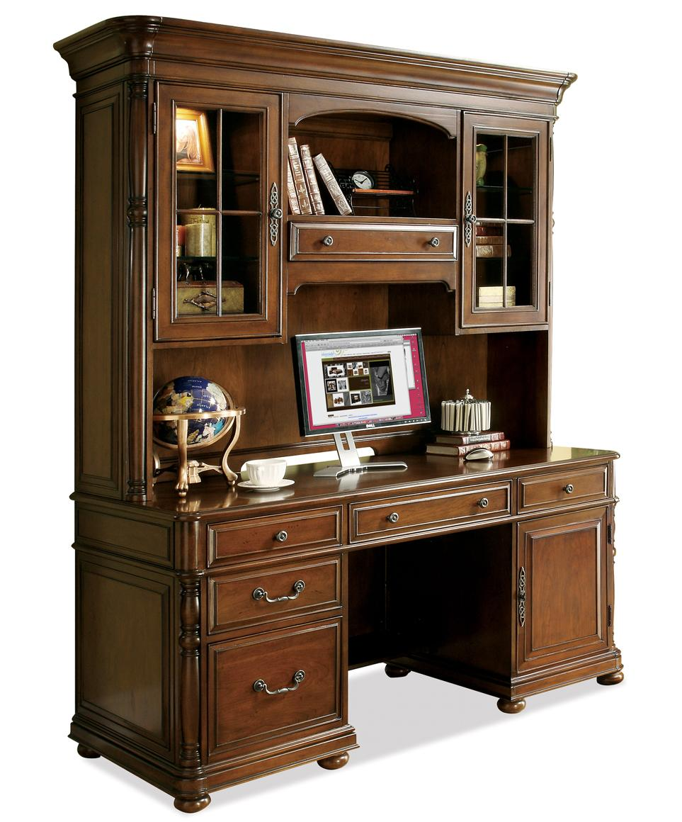 large office computer desk and hutch by riverside furniture wolf