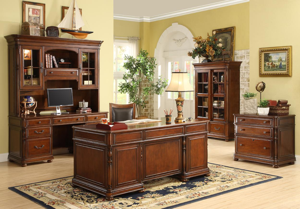 Computer Credenza And Hutch