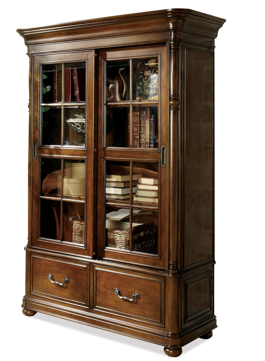 Double Sliding Glass Door Bookcase