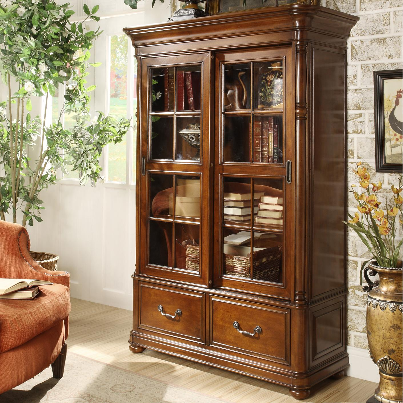 wolf door and bookcases products sliding bookcase by riverside furniture gardiner closed