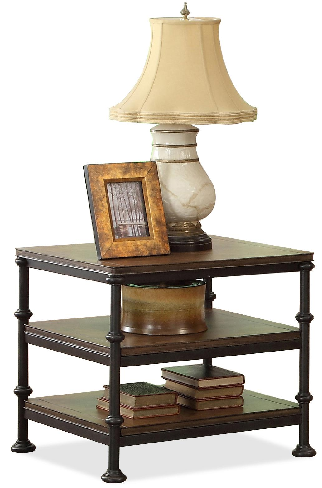 Beau Rectangular End Table With 2 Shelves