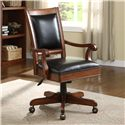 Riverside Furniture Cantata Executive Desk Chair with Casters - Shown in Room Setting