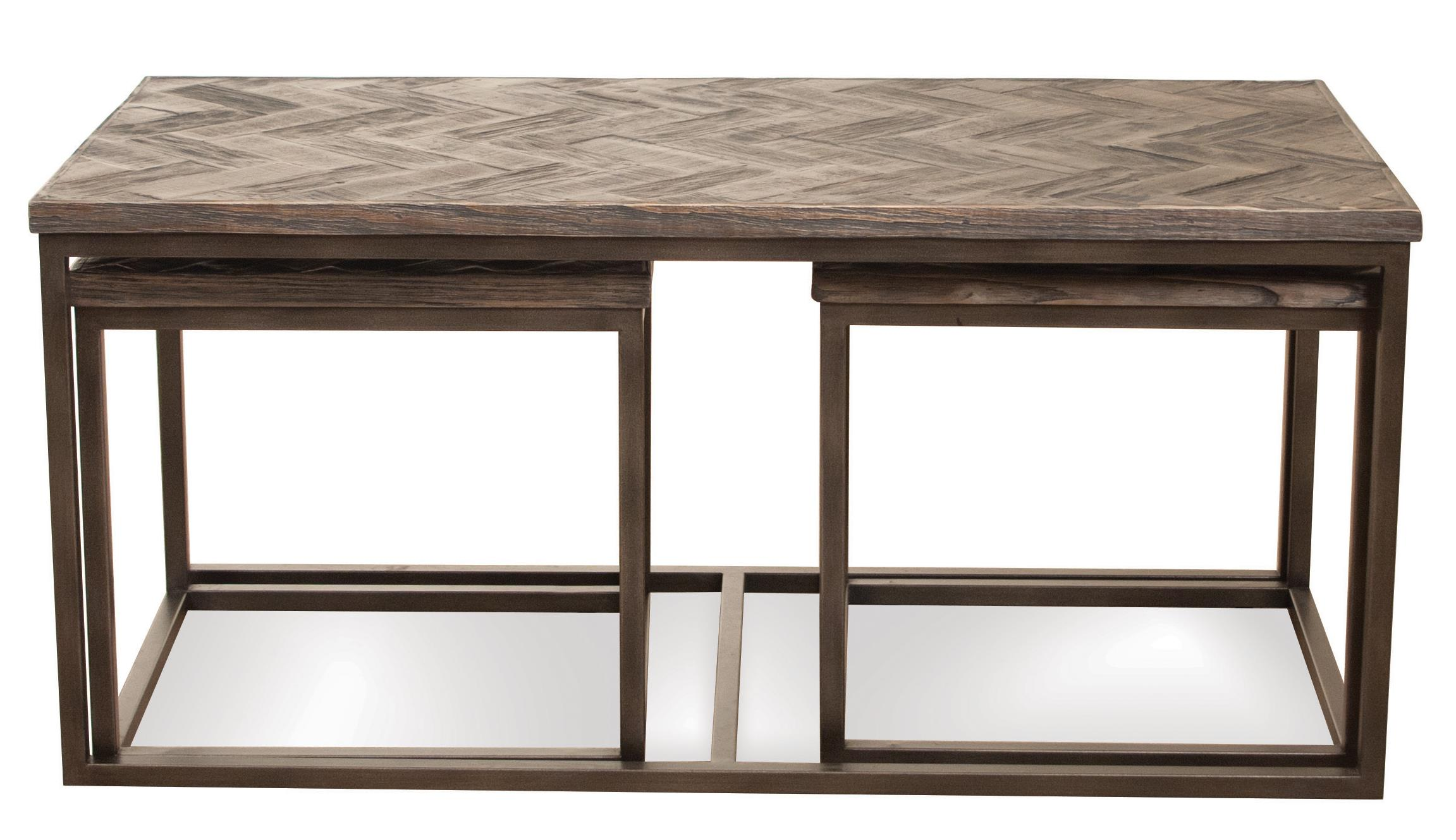 Pc rectangular nesting coffee table by riverside