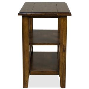 Chairside Table With 2 Shelves